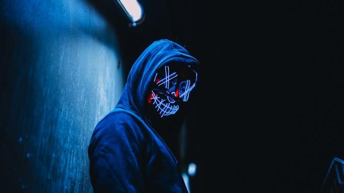 1 15648 wallpaper mask anonymous hood glow dark gambar anonymous