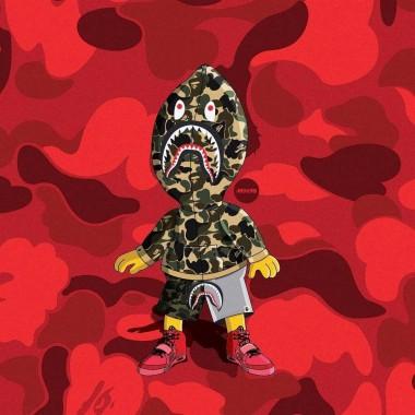 Bape Bart Wallpapers Top Bape Bart Backgrounds Bart Bape 1080x1080 Download Hd Wallpaper Wallpapertip