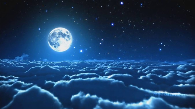 Aesthetic Blue Moon Backgrounds 1280x720 Download Hd Wallpaper Wallpapertip