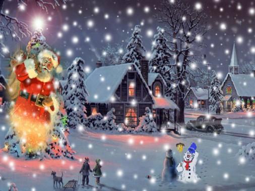 Image De Noel Animee Gratuite Fond D Ecran Anime De Noel 1024x768 Wallpapertip