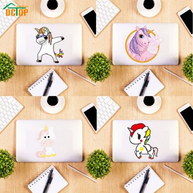 100 1000940 lucu kartun unicorn kuda dinding laptop switch stiker
