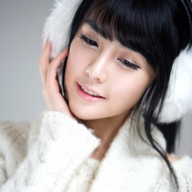 Heißes koreanisches schönes Mädchen