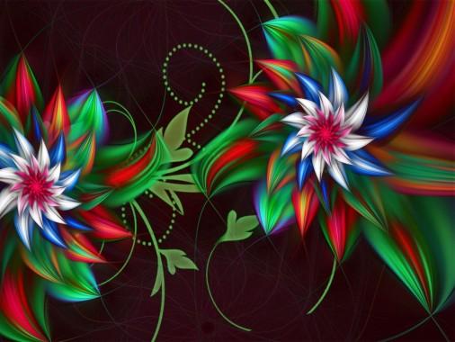 113 1134347 wallpaper 3d abstract fractal flowers gambar png keren
