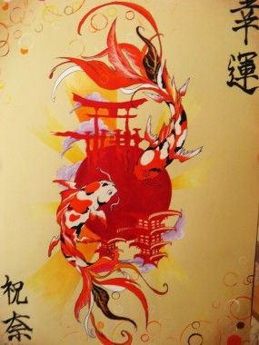 Koi Fish Wallpaper For Bathroom 600x900 Download Hd Wallpaper Wallpapertip