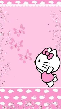 Purple Hello Kitty Background 900x1600 Download Hd Wallpaper Wallpapertip