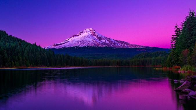 15 154988 forest mountain usa hood sunset oregon ipad wallpaper