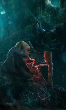 Wallpapers Baby Yoda And The Mandalorian Image Mandalorian Season 2 664x960 Download Hd Wallpaper Wallpapertip