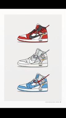 Custodio Cambiable cuerda  Cartoon Jordan Shoes Wallpapers Top Cartoon Jordan - Off White Wallpaper  Shoes - 640x1136 - Download HD Wallpaper - WallpaperTip