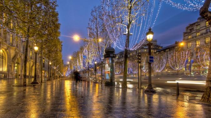 Paris Night Street Beautiful Background Of Paris 1920x1080 Download Hd Wallpaper Wallpapertip