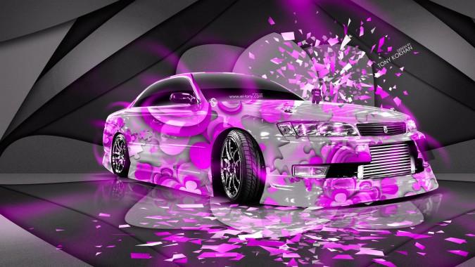 Neon Car Theme Wallpaper - Neon Car Wallpaper 4k ...