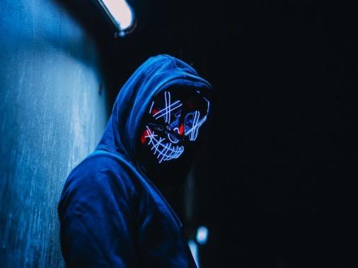 Wallpaper Mask, Anonymous, Hood, Glow, Dark - Gif De La Purga - 800x600 -  Download HD Wallpaper - WallpaperTip