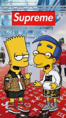 Supreme Background Images Bart Simpson Cool Wallpaper Supreme 886x1920 Download Hd Wallpaper Wallpapertip