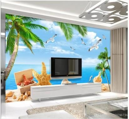 3d Wall Murals Uk Panels Beach For Living Room Art Feature Wall Living Room 3d 908x837 Download Hd Wallpaper Wallpapertip