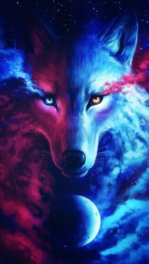 Wolf Blue And Moon Image Galaxy Wolf 640x1136 Download Hd Wallpaper Wallpapertip