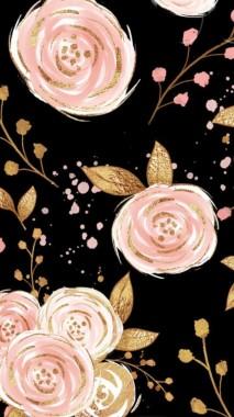 Rose Gold Background Flowers 640x1136 Download Hd Wallpaper Wallpapertip