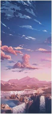 Aesthetic Pink Clouds 743x924 Download Hd Wallpaper Wallpapertip