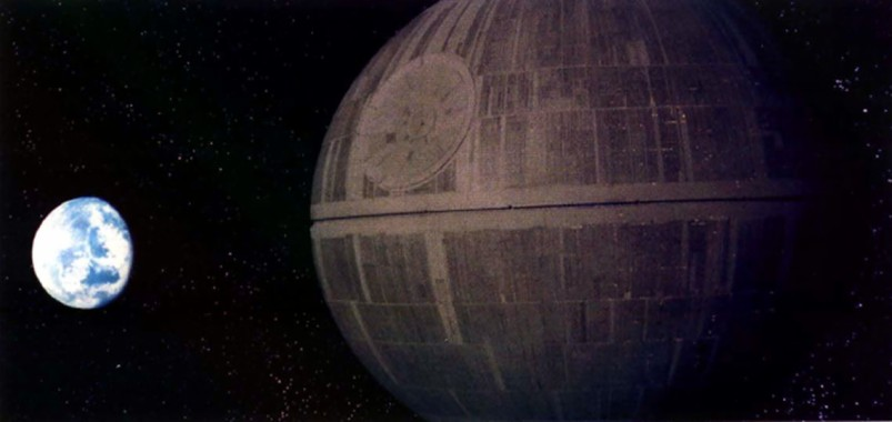 Star Wars Death Star Wallpaper First Death Star Approaching 1139x539 Download Hd Wallpaper Wallpapertip