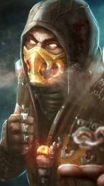 Wallpaper Mortal Kombat X Scorpion Art Character Scorpion