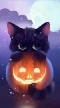 27 277456 halloween kawaii black cat