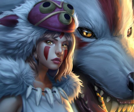 Princess Mononoke 3840x1080 Download Hd Wallpaper Wallpapertip