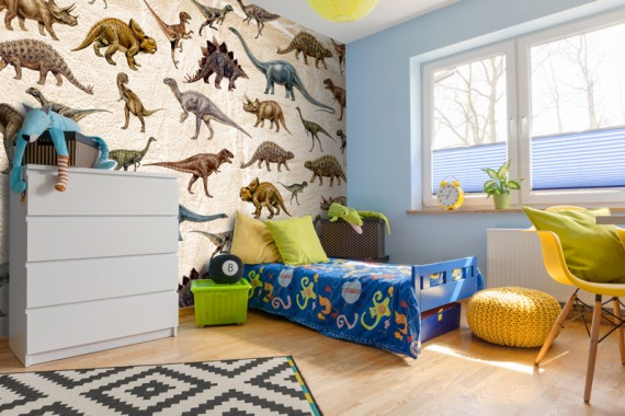 Patterned Dinosaur Wallpaper In Boys Bedroom Boys Wallpaper For Bedrooms 800x533 Download Hd Wallpaper Wallpapertip