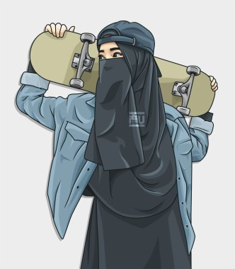 29 296863 muslimah hipster style cartoon