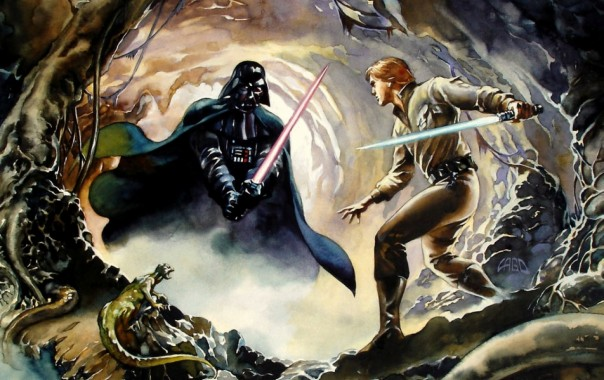 Luke Skywalker Vs Darth Vader Wallpapers Darth Vader Vs Luke Skywalker 1280x804 Download Hd Wallpaper Wallpapertip