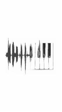 Music Wallpaper Tumblr Piano Into Sound Waves 1080x1920 Download Hd Wallpaper Wallpapertip