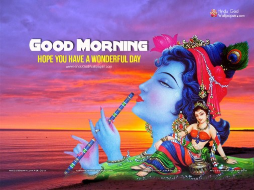 4 47389 jai shri krishna good morning wallpaper krishna good