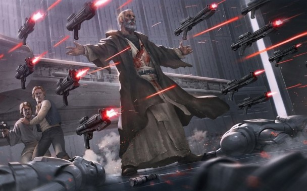 41 415501 wallpaper star wars gun fire fan art fight