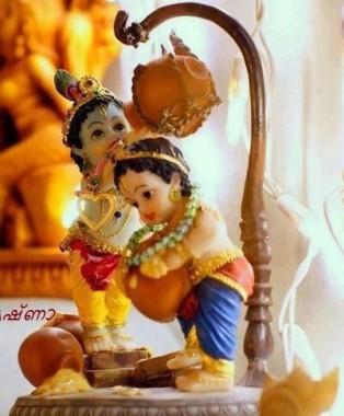 Cute Baby Krishna Statue 402x486 Download Hd Wallpaper Wallpapertip