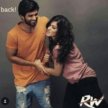Rashmika Mandanna And Vijay Devarakonda 697x698 Download Hd Wallpaper Wallpapertip