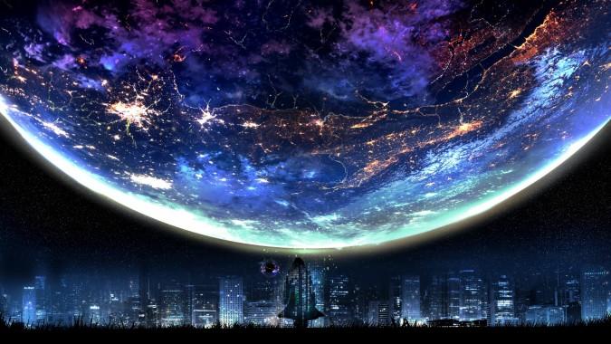 Anime Scenery Night Sky Satellite Dish 4k 3840x2160 Satellite Dish 3840x2160 Download Hd Wallpaper Wallpapertip