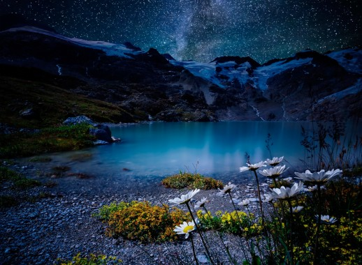 47 478351 879083 title earth night nature lake stars white