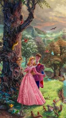 Sleeping Beauty Iphone Wallpaper Thomas Kinkade Art Disney 1080x1920 Download Hd Wallpaper Wallpapertip
