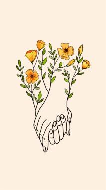 Aesthetic Yellow Flower Drawing 750x1236 Download Hd Wallpaper Wallpapertip