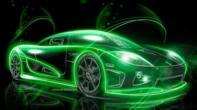 Neon Car Wallpaper 4k 1920x1080 Download Hd Wallpaper