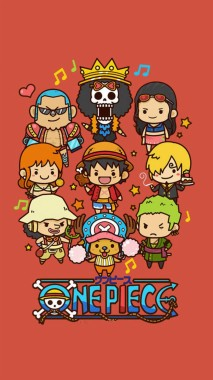 Cute Lovely One Piece Cartoon Poster Iphone 6 Wallpaper One