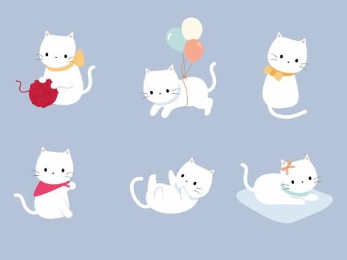 Kartun Kucing Putih Simple Cute Cat Illustration 1280x960 Download Hd Wallpaper Wallpapertip