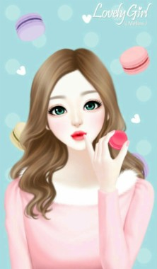 Korean Cartoon Girl 3d 602x1024 Download Hd Wallpaper Wallpapertip