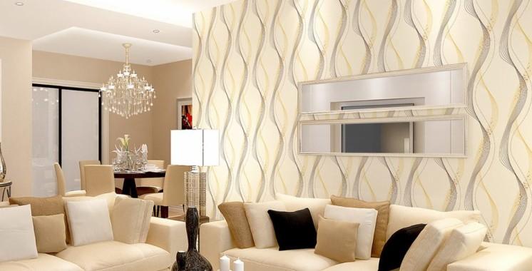 Intip Motif Wallpaper Dinding Ruang Tamu Terbaru Saat ...