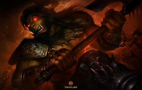 Wow Orc Shaman Wallpaper Wow Wow Orc Shaman Art 1200x869
