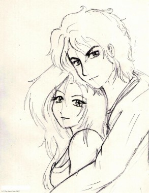 Love Drawing Girl And Boy 1234x1600 Download Hd Wallpaper Wallpapertip
