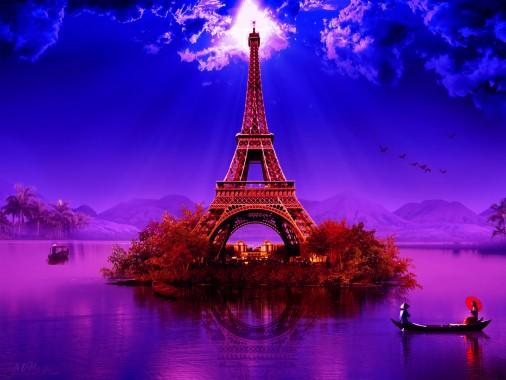 Night Eiffel Tower Wallpaper Paris 1200x900 Download Hd Wallpaper Wallpapertip