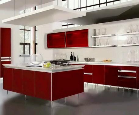 Wonderful Dream Kitchen Design With Floral Wallpaper Black White Purple Kitchen 634x443 Download Hd Wallpaper Wallpapertip