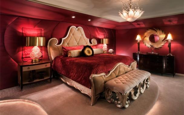 Romantic Deep Red Bedroom Design Romantic Bedroom 1600x1000 Download Hd Wallpaper Wallpapertip