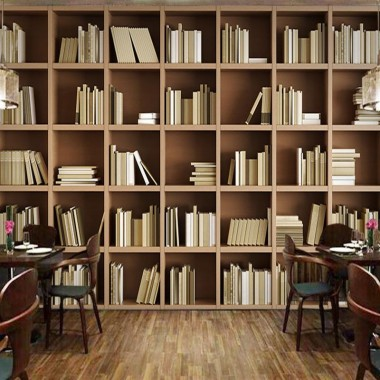 Bookcase Wallpaper Antique Library Encyclopedia Gold ...