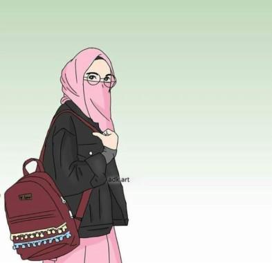 Kartun Muslimah Bercadar 1000x1250 Download Hd Wallpaper Wallpapertip