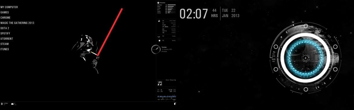 Star Wars Dual Screen Wallpaper 3840x1080 Download Hd Wallpaper Wallpapertip