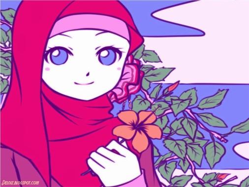 8 81884 wallpaper kartun muslimah cantik animasi bergerak wanita muslimah